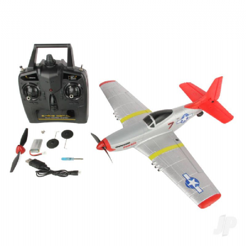 Sonik RC P-51 400 RTF 4-Channel with Flight Stabilisation